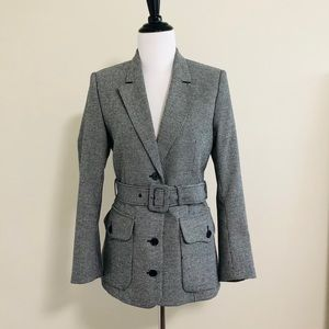 THE KOOPLES Houndstooth Blazer with Belt